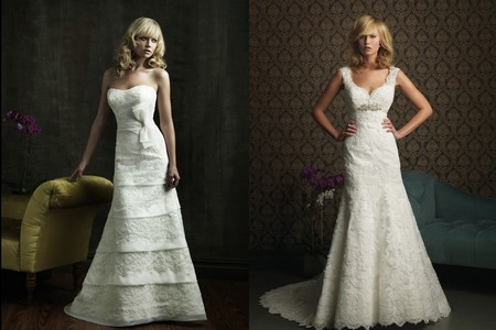 Robes de mariée en dentelles 2012