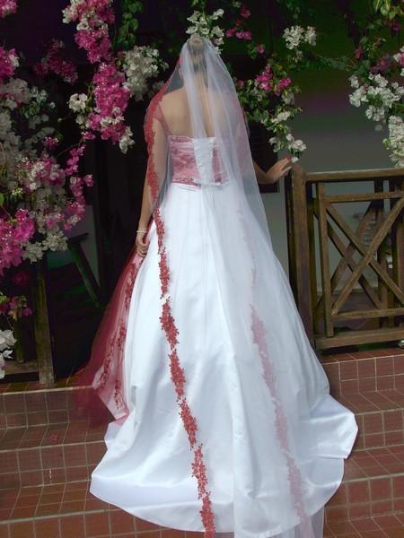 Josephine Red Berry Wedding Dress