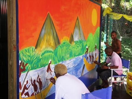 Tableau de gommiers (Martinique)