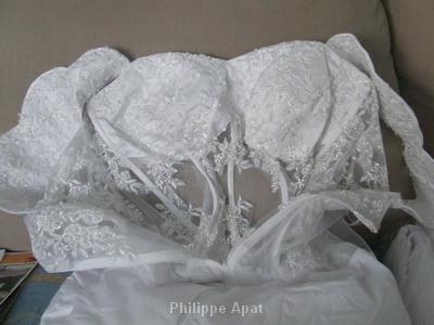 Stylisme Robe de Mariée Bustier Transparent