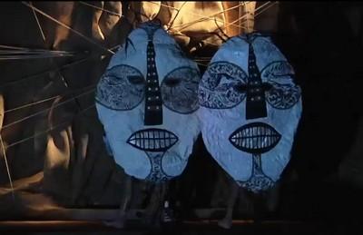 Franck Sorbier masques du défilé de mode