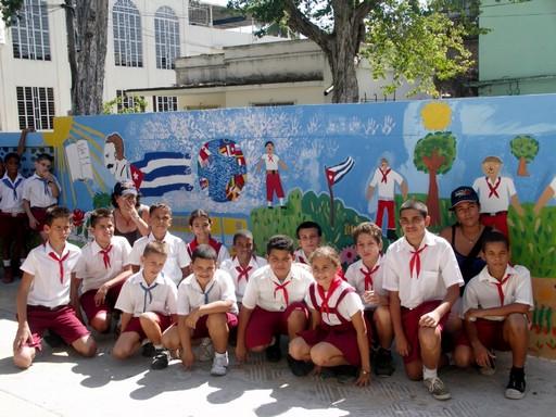 Inter-nos 2010 Peinture murale dans les écoles de Cuba