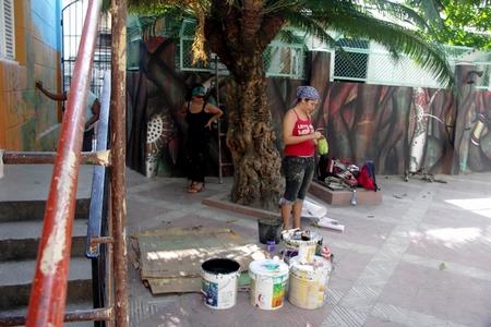 Peinture murale INTER-NOS 2010 Casa del Joven Creador de Cuba