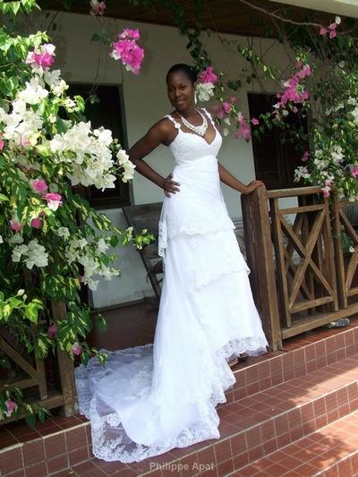 Robe de Mariée via la Martinique