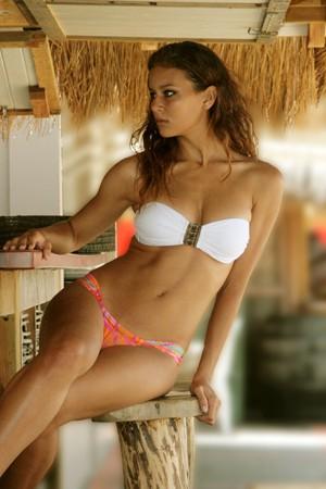 Bikini Brésilien bandeau blanc