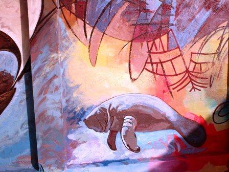Lamantin - fresque murale