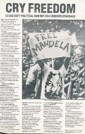 Nelson Mandela nouvelles