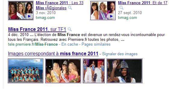 Miss France 2011 et Anaïs Corosine