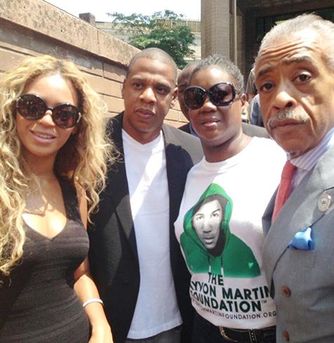 Beyonce JAy Z trayvon Martin