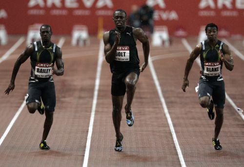 Usain Bolt meeting Areva