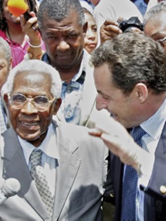 Nicolas Sarkozy en outremer