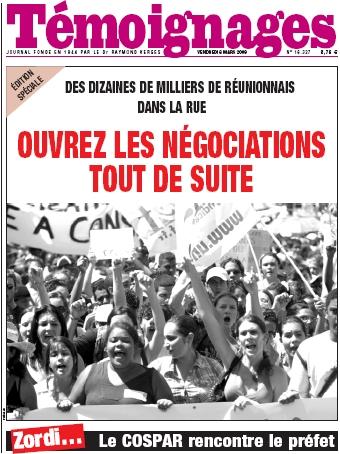 Grève Réunion COSPAR arèt ek sa !