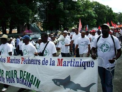 Pecheurs Martinique en grève