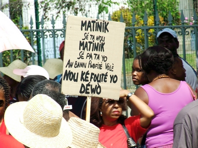 Grève aux Antilles