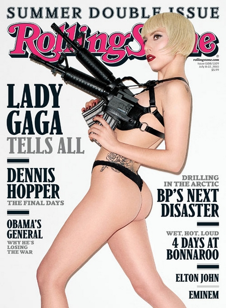 Lady Gaga en string nue