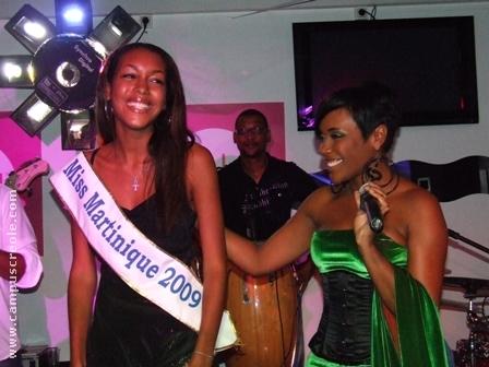 Lynnsha marraine de Miss Martinique 2009