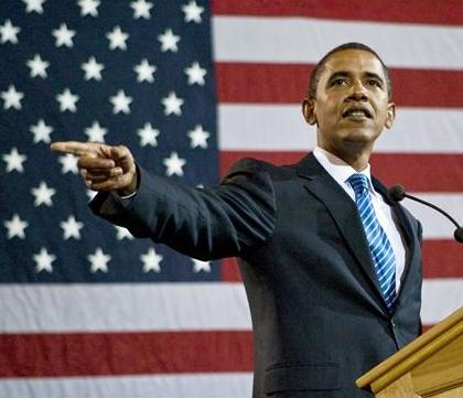 Barack Obama arrive à Washington