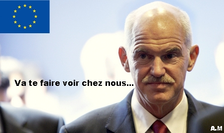 Papandreou crise euro dette