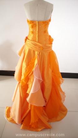 Robe Soirée Orange 2011