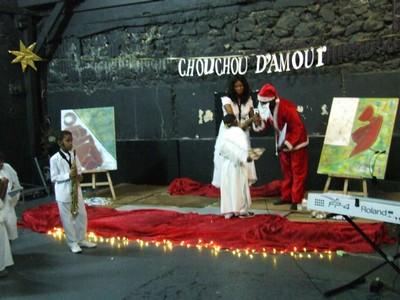Samuel Quémin invite le Père Noël en Martinique