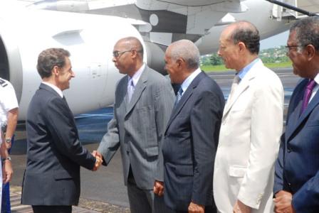 Sarkozy en Martinique