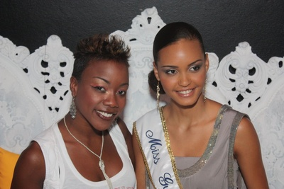 Photo de Perle Lama et Miss Guyane