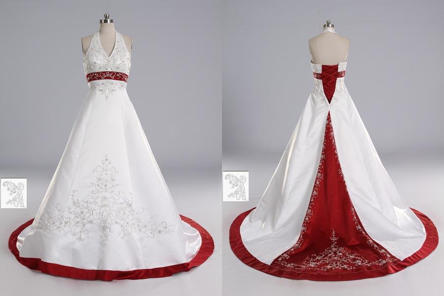 robe de mari e rouge bordeaux et blanc id es et d 39 inspiration sur le mariage. Black Bedroom Furniture Sets. Home Design Ideas