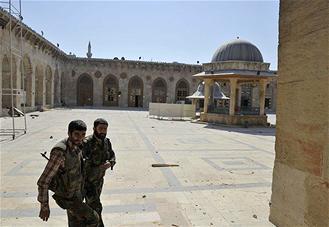 Syrie Mosquée des Omeyyades vandalisée