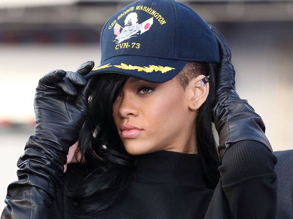 Rihanna Navy Hair Style