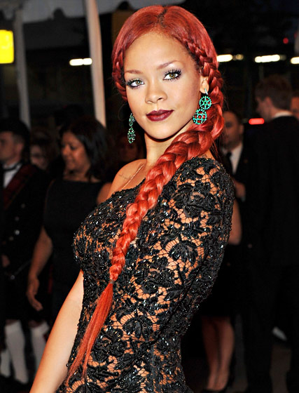 Rihanna Rousse Hairstyle